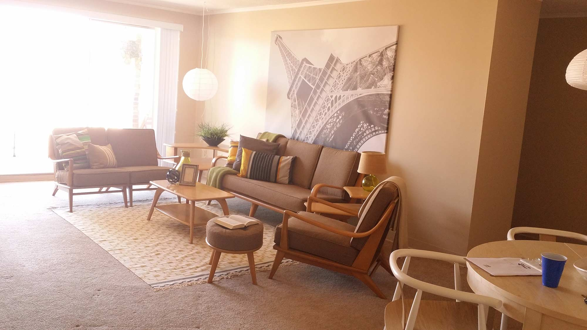 Rivers Edge Apartments after staging living room