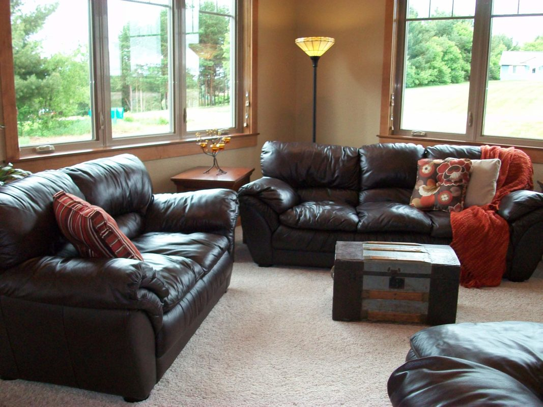 Heartwood Parade Home living room staging