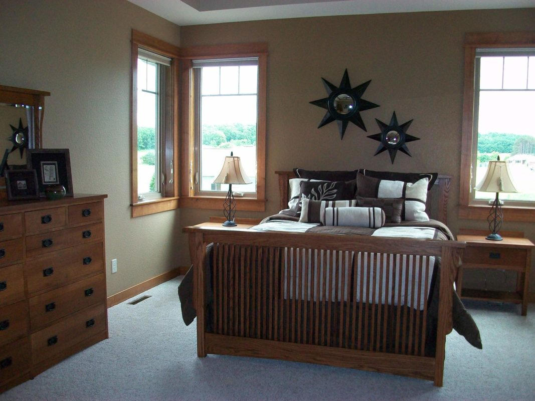 Heartwood Parade Home master bedroom staging