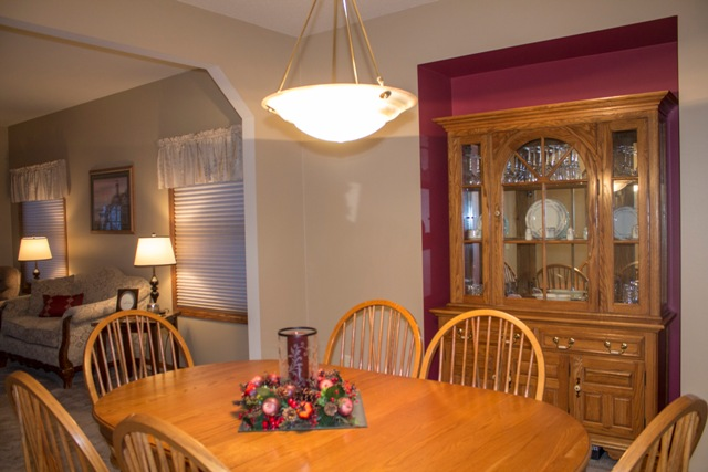 Havenwood dining room staging