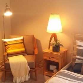Rivers Edge Apartments after staging bedroom