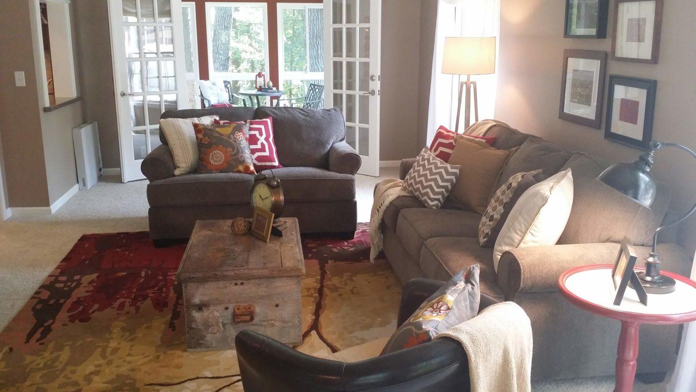 Woodridge living room staging