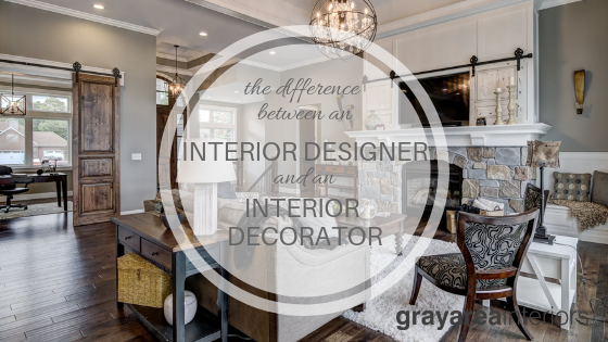 the difference between an interior designer and an interior decorator
