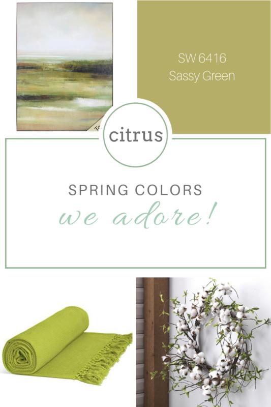 citrus spring colors we adore