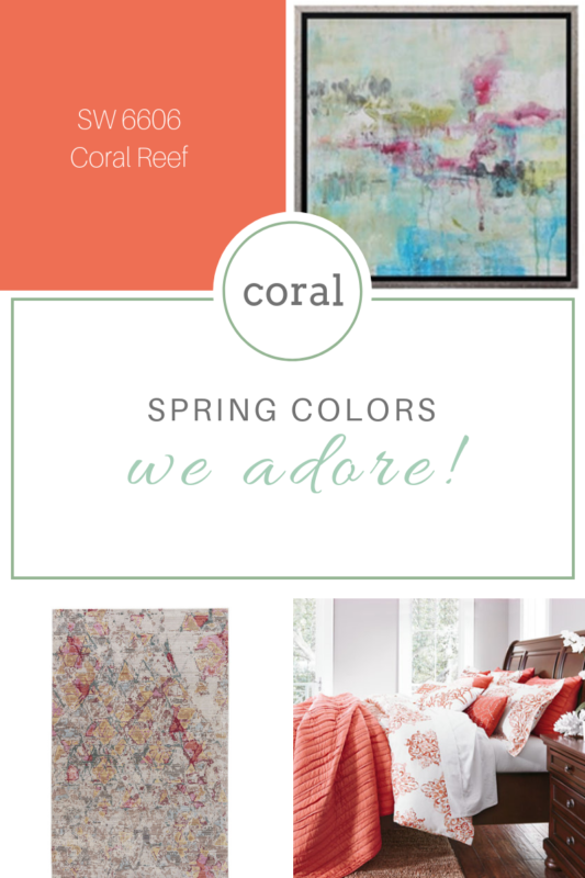 spring paint colors we love coral
