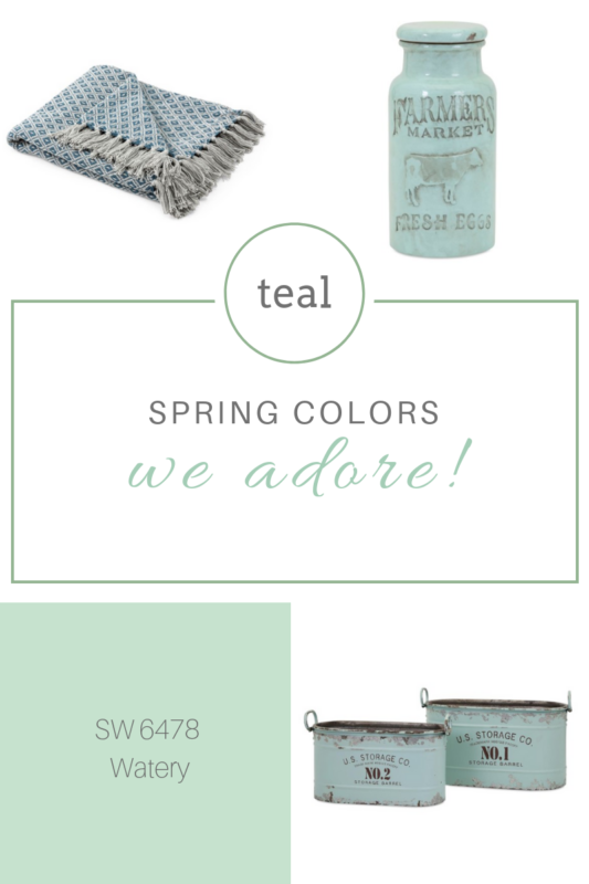 teal spering colors we adore