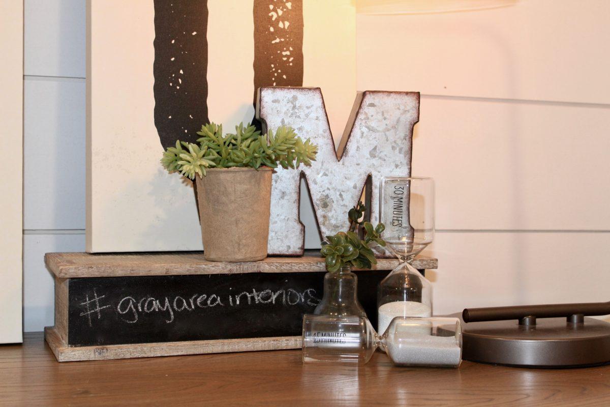 chalkboard letter plant art office accessories