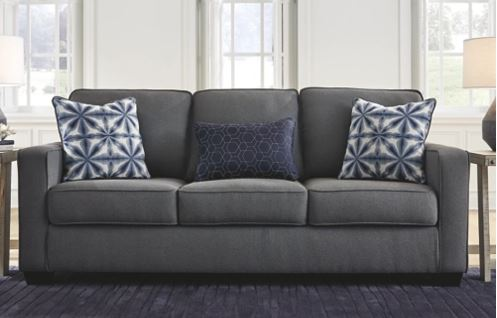 the 4 sofas you must have and the 3 you can live without kiessel gray polyester sofa with blue pillows