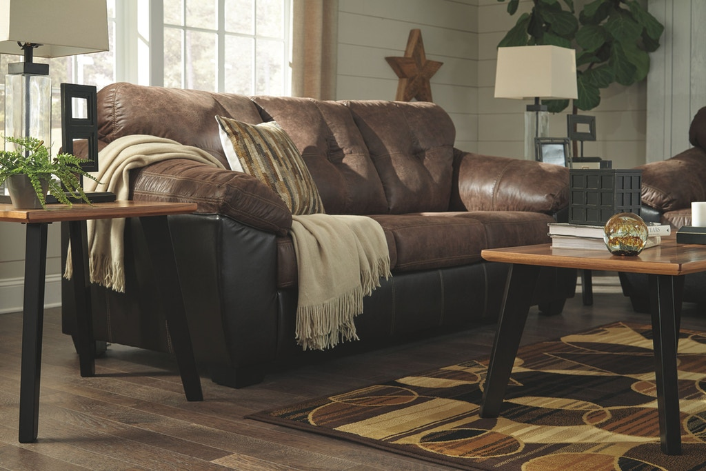 faux leather brown sofa