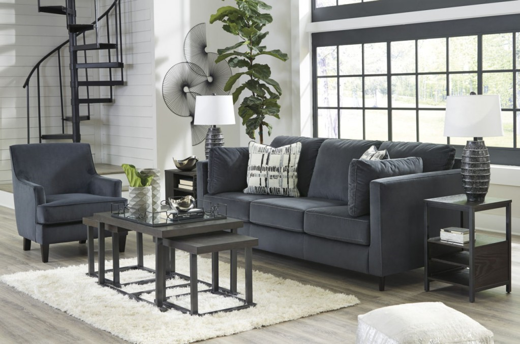 the 4 sofas you must have and the 3 you can live without kennewick charcoal sofa in microfiber or velvet polyester
