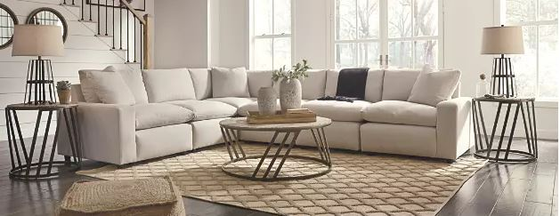 white sectional farmhouse
