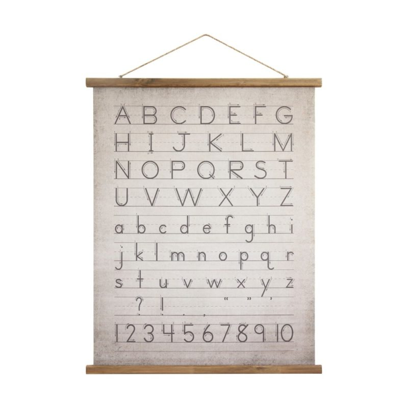 alphabet and numbers wall hanging