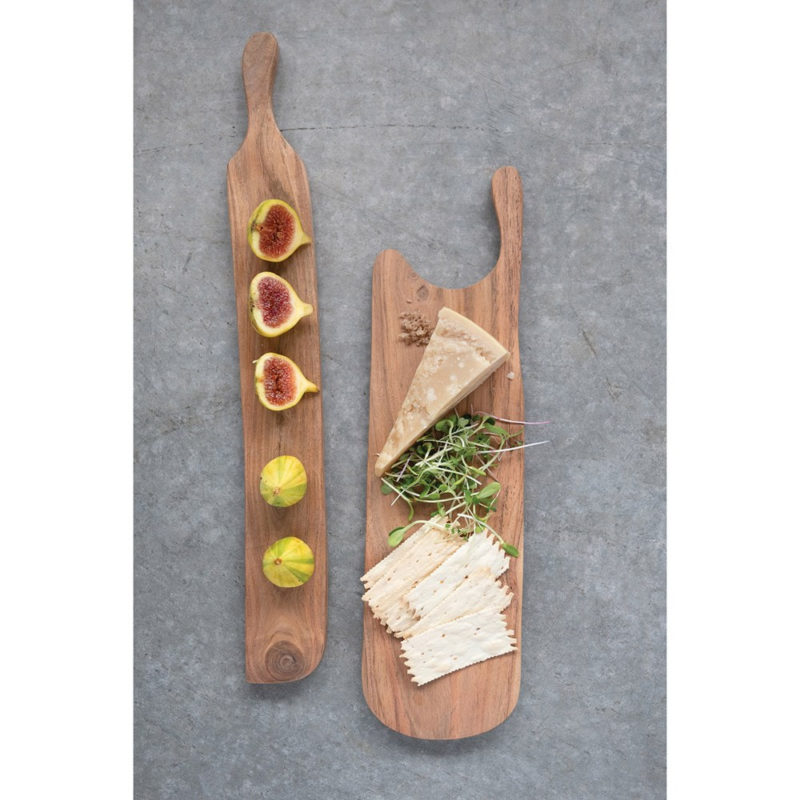 Acacia wood cheese and cutting board charcuterie vegetables crackers fruit