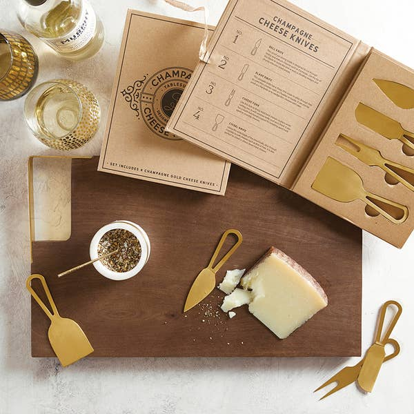 champagne cheese knifes charcuterie tools entretaining